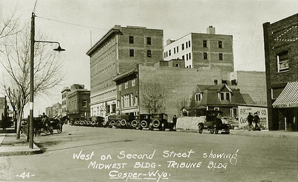 Second Street  looking west approx  1921Casper Historic Photos. Architectural Doors And Hardware Casper Wy. Home Design Ideas
